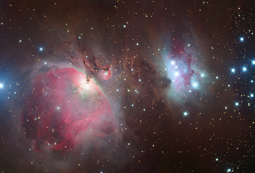 M42 and Ngc1977 by Peter Shah