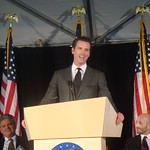 Mayor Newsom And The U.S. General Services Administration (GSA) Break Ground On The Seismic Restoration Of The Historic 50 United Nations Plaza Federal Building On Market Street