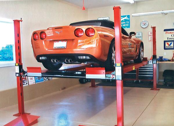 Orange_Corvette_Backyard_Buddy_lift | Flickr - Photo Sharing!