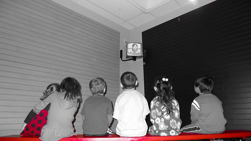 Kids Watching Safety Video