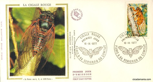 Cicada stamp from France