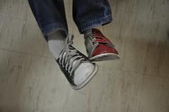 hand(0.0), arm(0.0), human body(0.0), boot(0.0), outdoor shoe(1.0), sneakers(1.0), footwear(1.0), shoe(1.0), limb(1.0), leg(1.0), sock(1.0),
