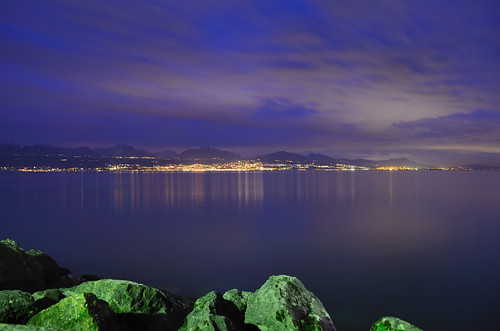 Lake Geneva at dusk