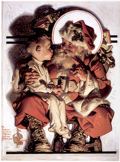 1923 ... Santa And Boy- Leyendecker