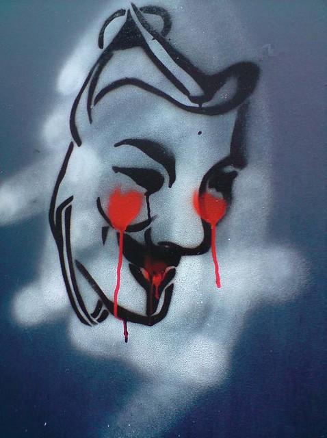 V For Vendetta Stencil for Vendetta mask sten...