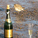 Champagne and a Grey Plover at Brancaster Staithe by Ian-S