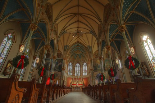 christmas usa church st america ga john georgia cathedral symmetry ceiling savannah pew cathedralofstjohn
