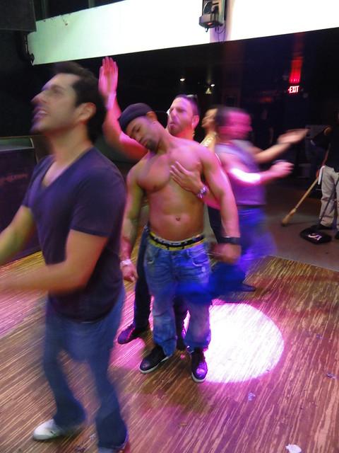 shirtless muscle men on the dance floor flickr photo. Black Bedroom Furniture Sets. Home Design Ideas