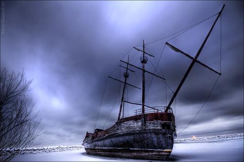 "winter snow abandoned ice night canon boat long exposure ship harbour decay ruin sigma vessel kerry jordan shipwreck pirate 7d sheppard wreck 1020 sheke1 ""hpcwinterwonderland"""