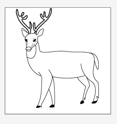 Deer Contour Line Drawing : Deer line drawing car interior design