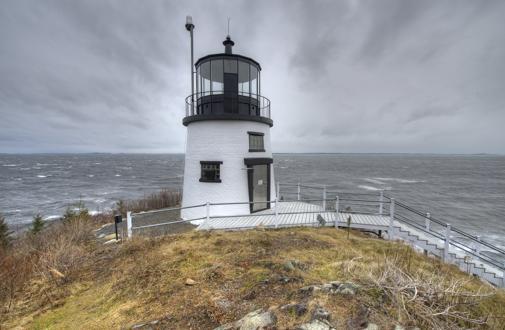 HDR photograph of Owl's Head lighthouse in Maine.