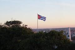 Bandeira de Cuba em La Cabaña, Havana