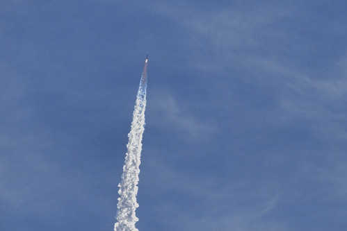 Delta IV rocket heads for space.