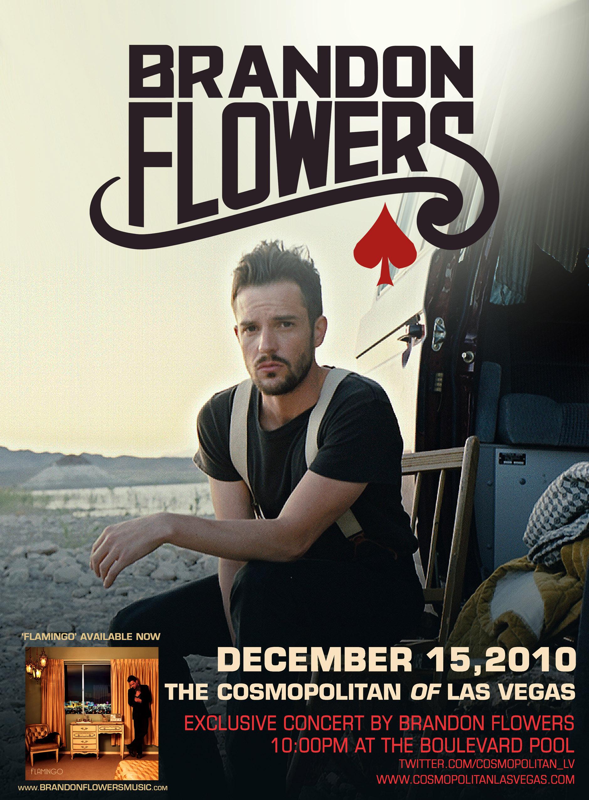 NOVEMBER 22 26th The Cosmopolitan of Las Vegas Brandon Flowers Concert Ticke