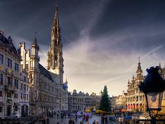Grote Markt met kerstboom