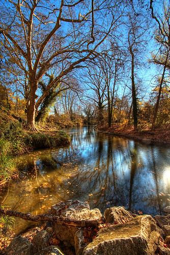 autumn france fall automne river rivière provence hdr 3xp roquefavour