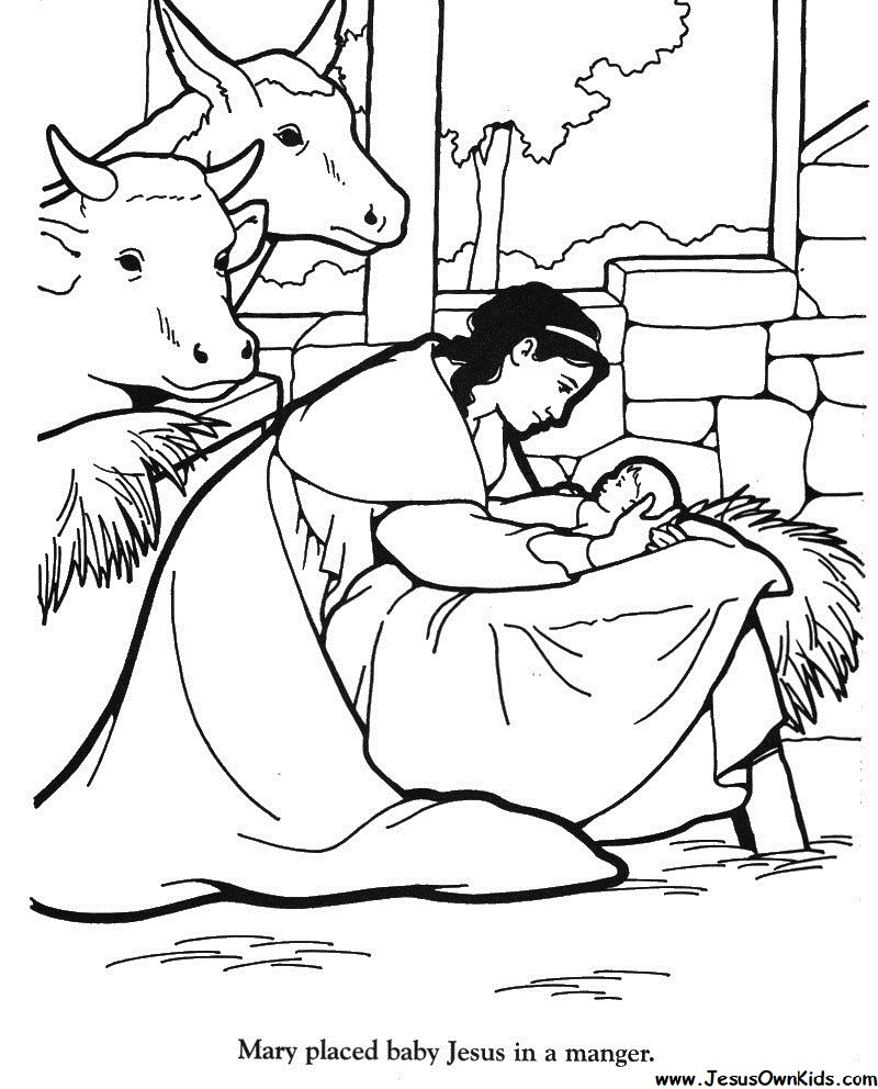 Free Coloring Pages Of Jesus In The Manger