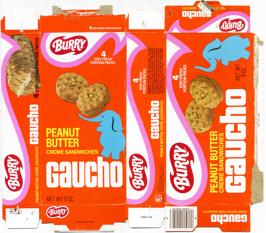 Burry Gaucho cookies box