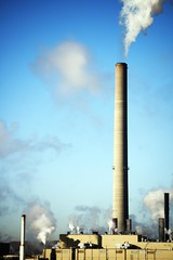 industry, chimney, tower, power station, sky,