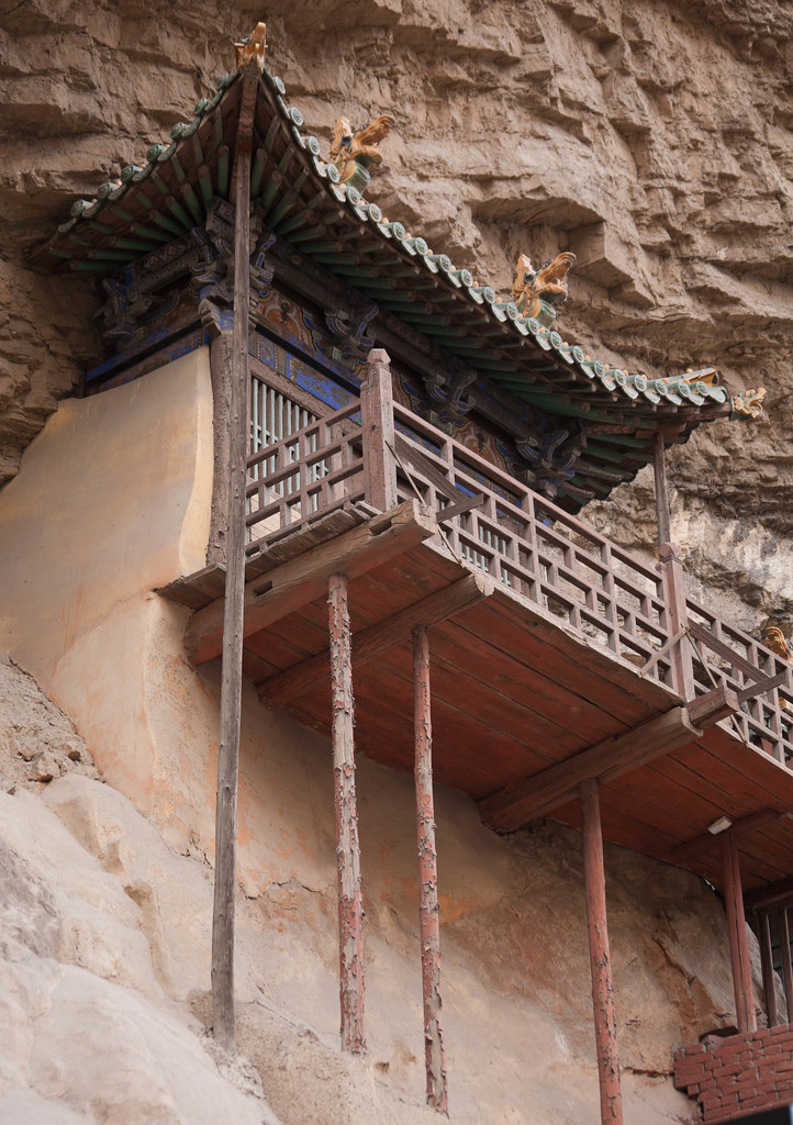 Templo colgante de Xuan Kong Si. Provincia de Shanxi, China