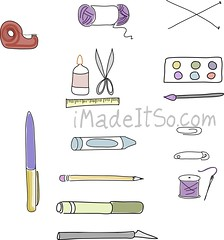 craft supply labels