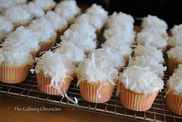 Mini Coconut Cupcakes with Coconut Cream Cheese Frosting | Flickr ...