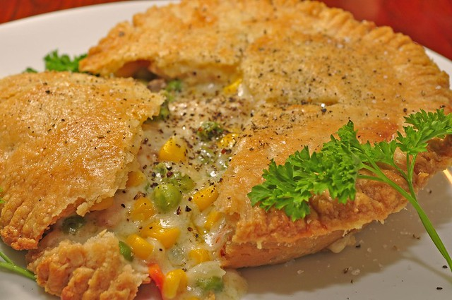 Mmm... chicken pot pie!