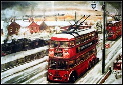 London transport B1 Trolleybuses Waddon.