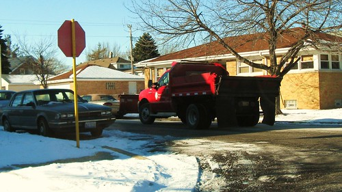 Elmwood Park Department of Public Works snowplow truck. Elmwood Park Illinois. December 2010. by Eddie from Chicago