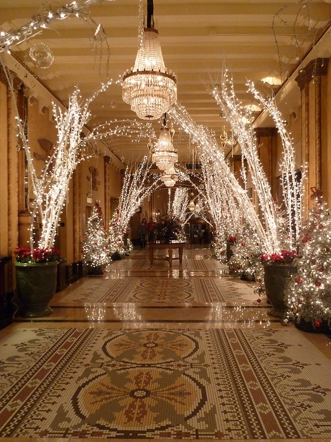 Christmas Decorations In Hotel Lobby : Roosevelt hotel christmas decor lobby flickr photo