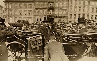Kongen av Siams ankomst til Kristiania 5/7 1907