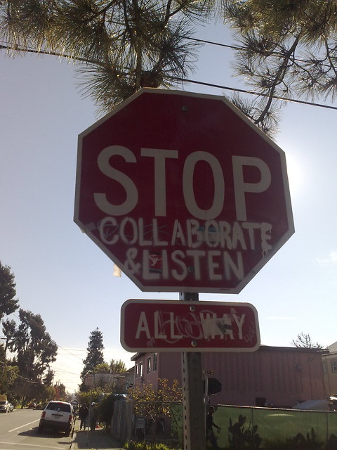 Stop, collaborate and listen from Flickr via Wylio