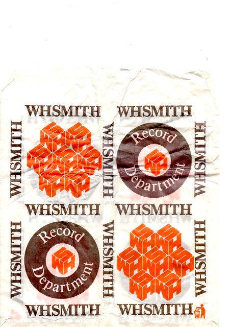 1980s WH Smith Record Dept paper bag