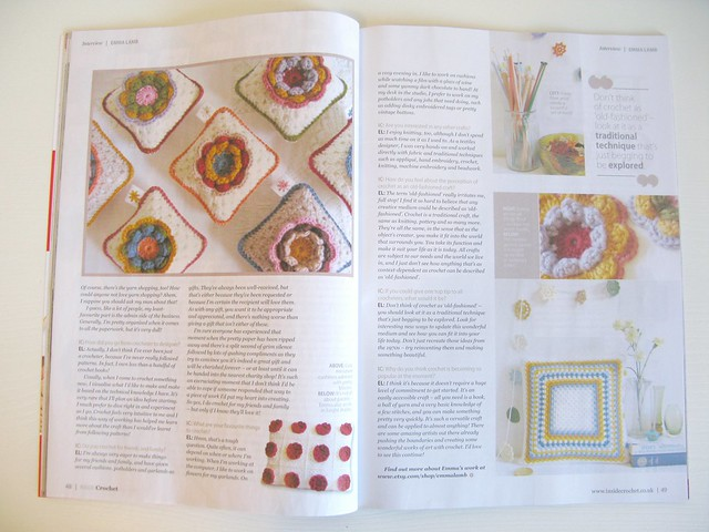 I have a wee interview in the latest issue of Inside Crochet, yay! | Emma Lamb