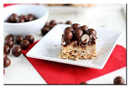 Chocolate Malt Krispie Treats 1
