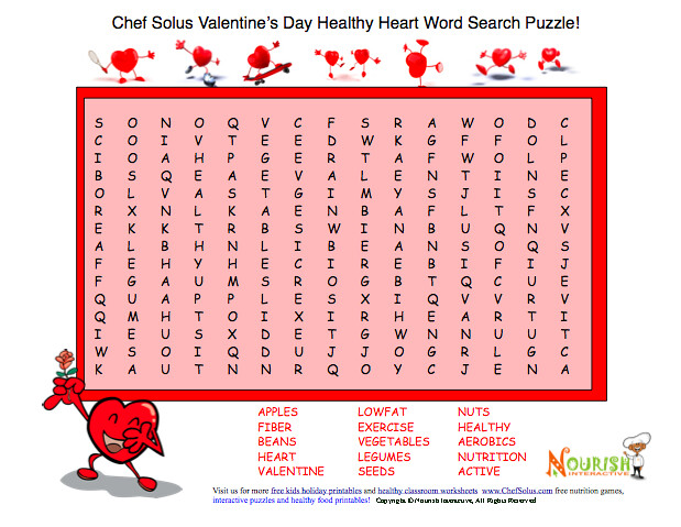 Print Valentine Healthy Word Search Puzzle | Flickr - Photo Sharing!
