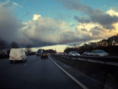Daily commute: driving into rain on the A3