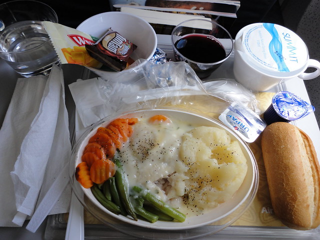 classic airplane food, on Air Niugini