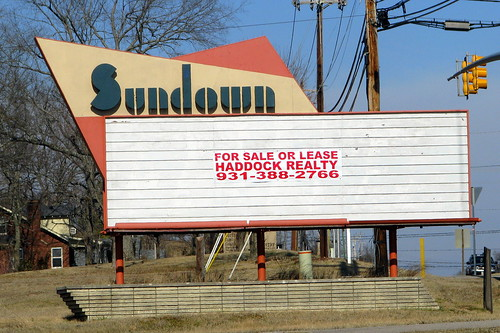 Sundown sign - Columbia, TN