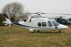 G-MCAN - 2006 build Agusta A109S Grand, at the 2010 Cheltenham Festival
