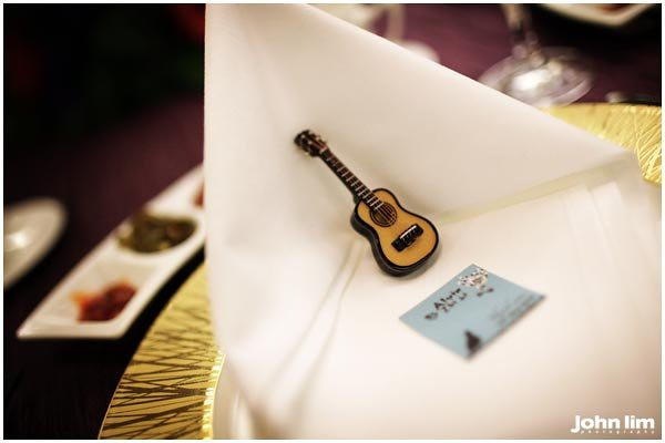 Music themed wedding favor Wedding Venue Marina Bay Sands