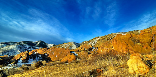 morning sky usa foothills snow grass clouds sunrise landscape michael nikon colorado micha redrocks morrison schaefer d300 redrockpark ptf
