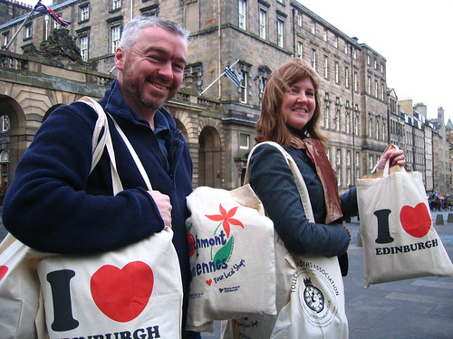 Alison Johnstone and (not plastic) bags
