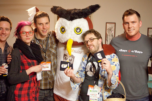 Hangin' with the Hootsuite Owl - SXSW Interactive 2011 - Austin, TX