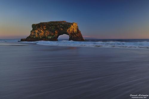 ocean california santa ca bridge light sunset sea usa seascape beach landscape waves natural filter cruz saudi f4 gnd طبيعة بحر سعودي نيكون كاليفورنيا