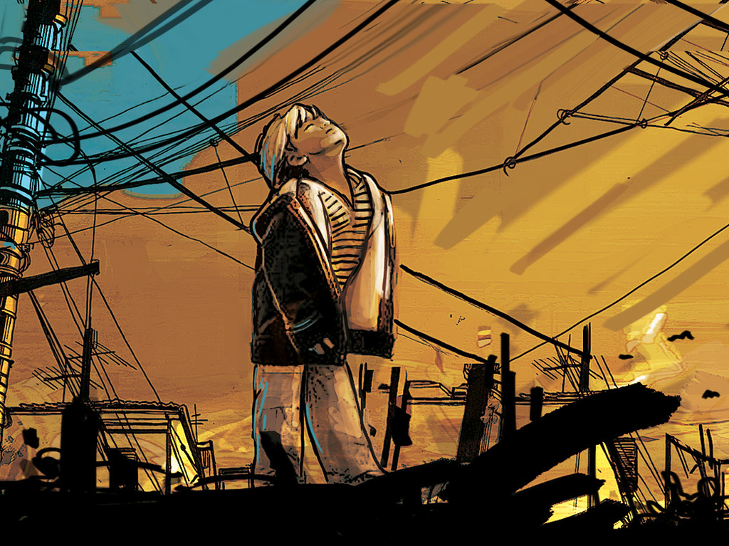 Alice Pasquini - waiting at the sun