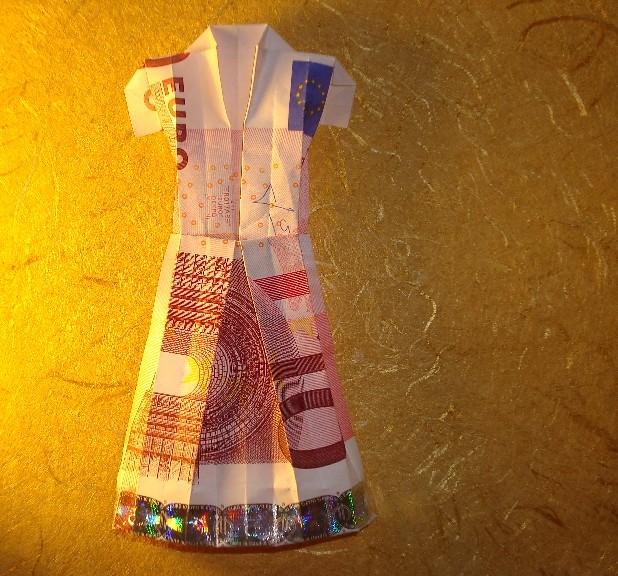 Origami Geld Kleid  Faltanleitung ist auf meine Seite vorha ...