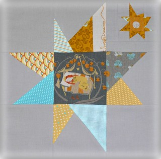 Heather Ross Wonky Star Block 007a