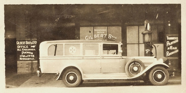 First ambulance built in Newcastle, NSW, Australia [c.1920's]