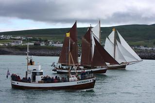 Boats sailing to Húsavík